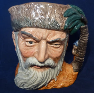 Royal Doulton Large Character Jug - Robinson Crusoe (First Version with footprint) - D532