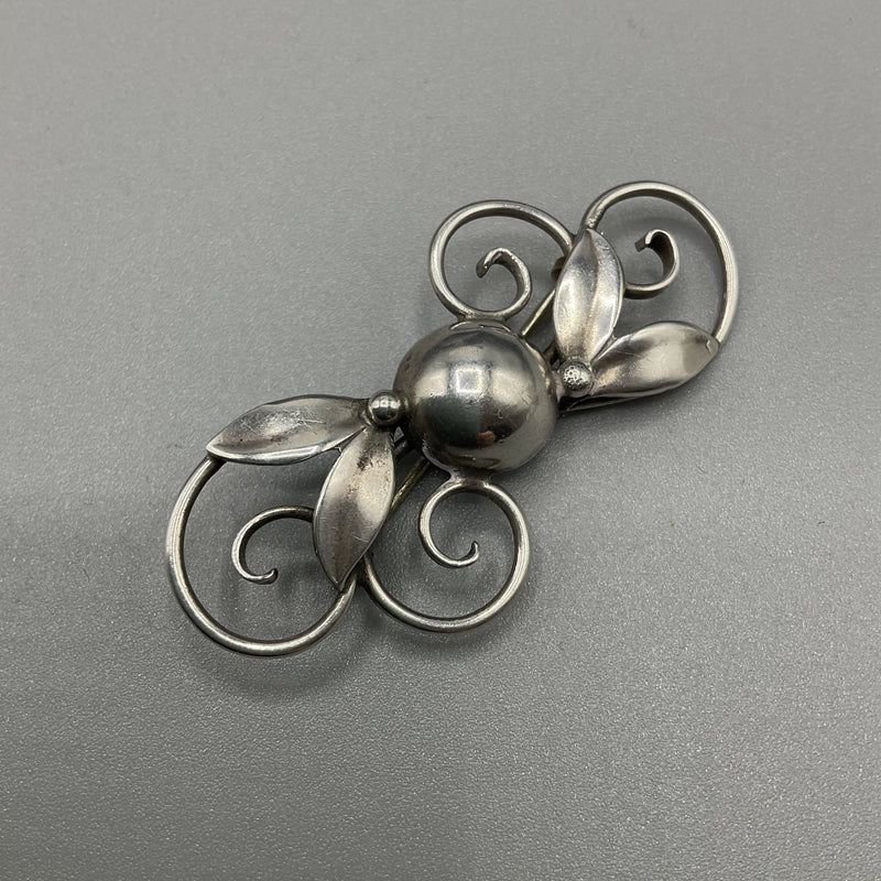 Arts and crafts silver brooch