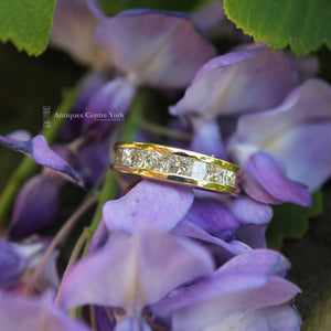 18ct Princess-Cut Diamond 1.40ct Half Eternity Ring