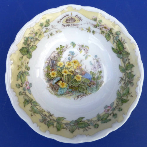 Royal Doulton Brambly Hedge Fruit Saucer / Dish Spring
