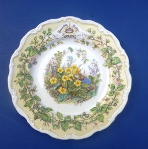 Royal Doulton Brambly Hedge Seasons Wall Plate - Spring