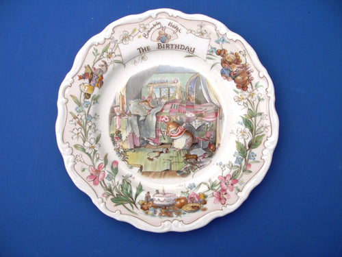 Royal Doulton Brambly Hedge Birthday Plate by Jill Barklem