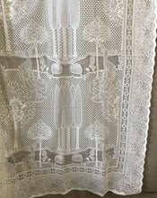 "Beautiful Arts & Crafts cotton lace curtain The Stag 68""/126"""