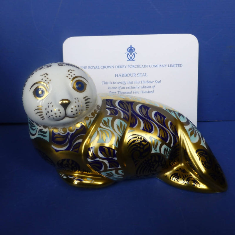 Royal Crown Derby Limited Edition Paperweight Harbour Seal (Boxed)