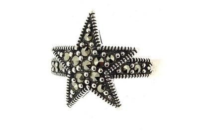 Silver Marcasite Star Ring