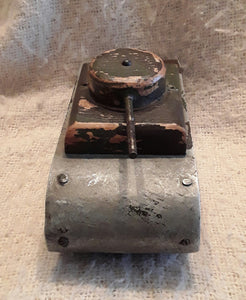 A World War Two Period Shed Made Childs Toy Tank.
