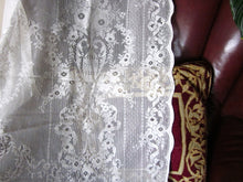 """Lydia"" Victorian Style Cream Cotton Lace Curtain Panel- 60"" x 90"" 230cm"
