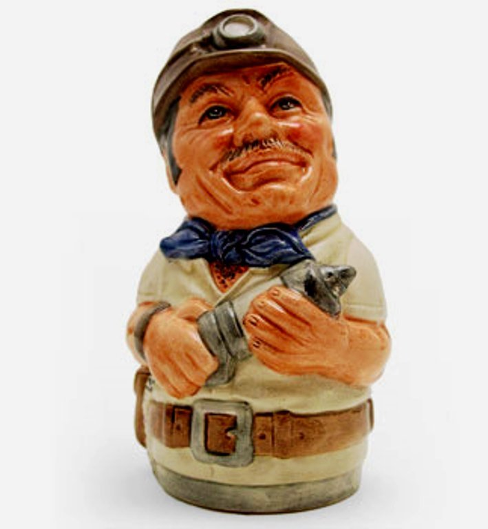 Royal Doulton Doultonville Toby Jug - Mike Mineral the Miner D6741