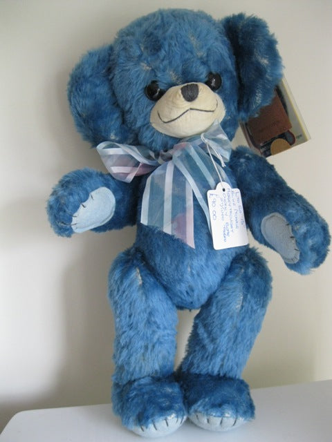 Merrythought Cheeky Bear Azure Mohair. 14.5""