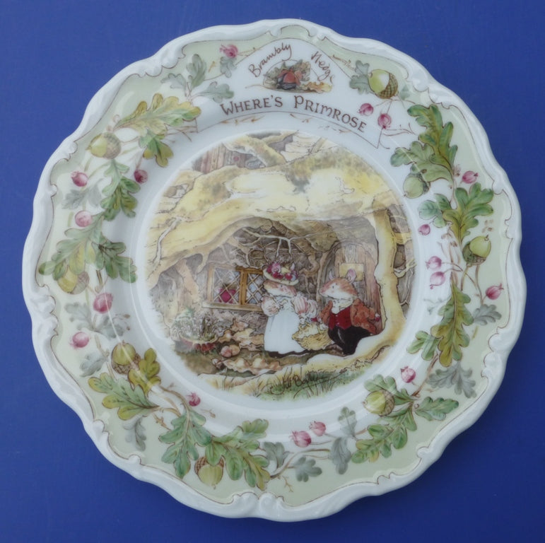 Royal Doulton Brambly Hedge Plate - Where's Primrose?