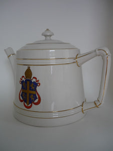 Antique Macintyre Bishop Auckland Crested Teapot.