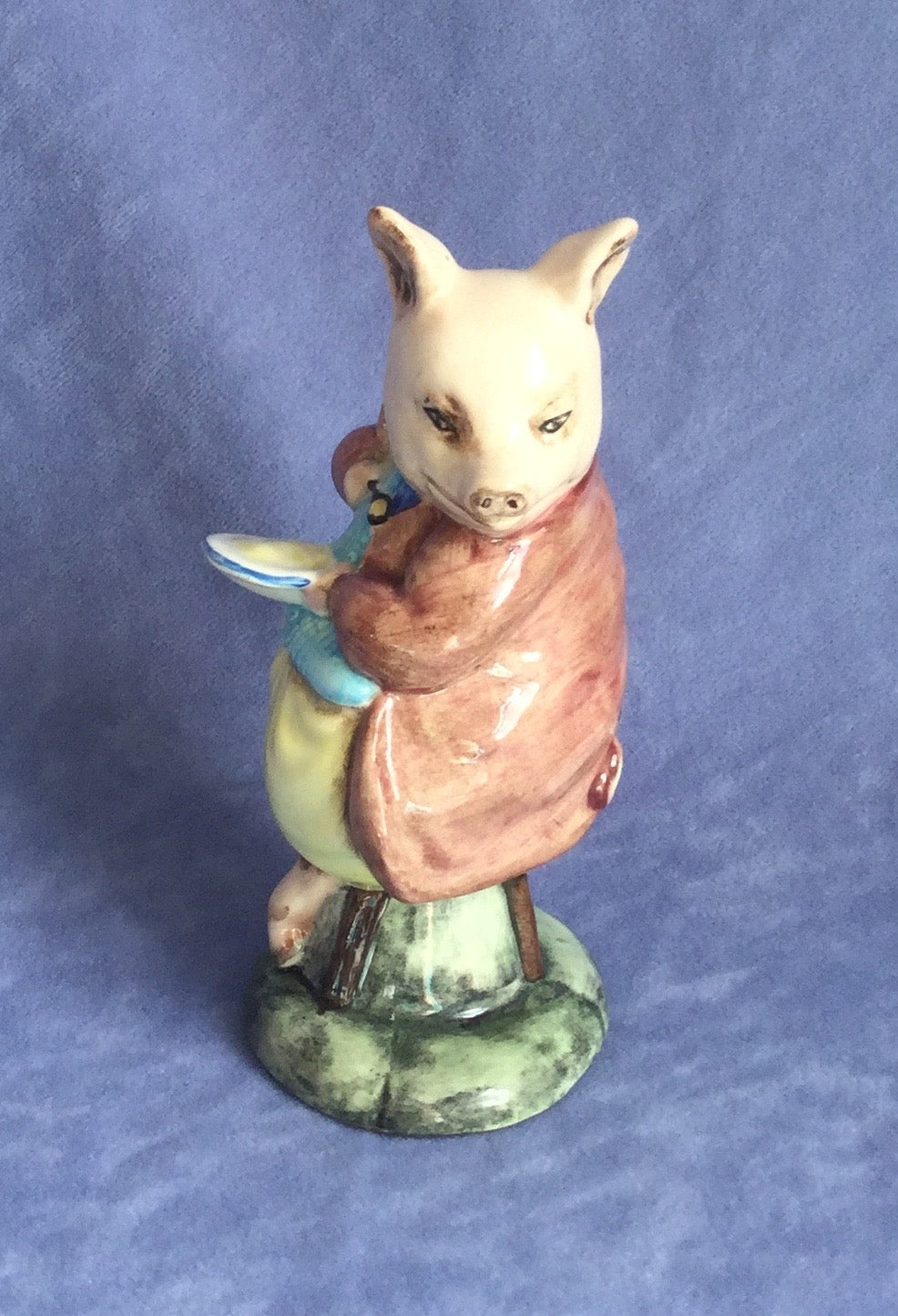 Royal Albert Pigling Eats His Porridge Beatrix Potter Figure BP6