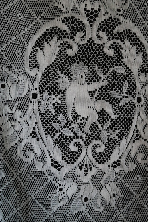 Cherub angel superb Cream Cotton Lace Curtain Panelling Sold per per m 42