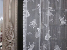 "nursery rhymes cotton Lace Curtain Panel 36"" x 24"""
