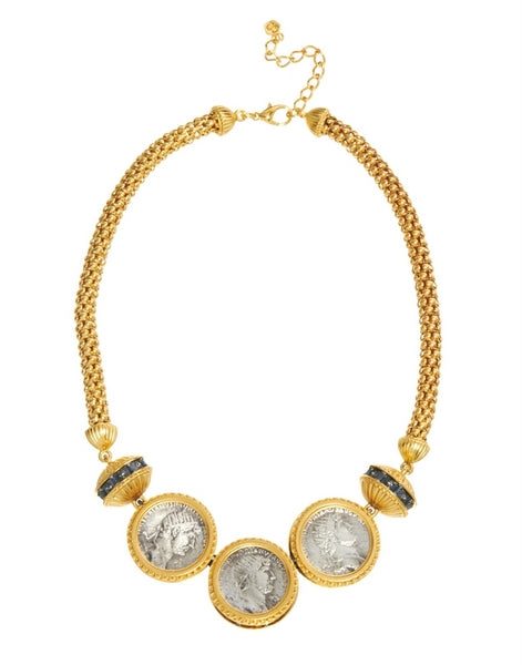 Bill Skinner Coin Necklace Gold
