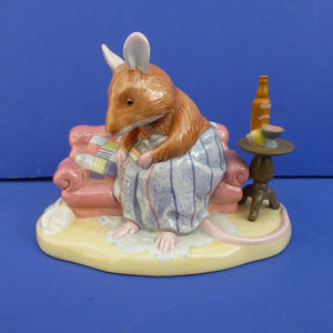 Royal Doulton Brambly Hedge Figurine - Where are Basil's Trousers? DBH50