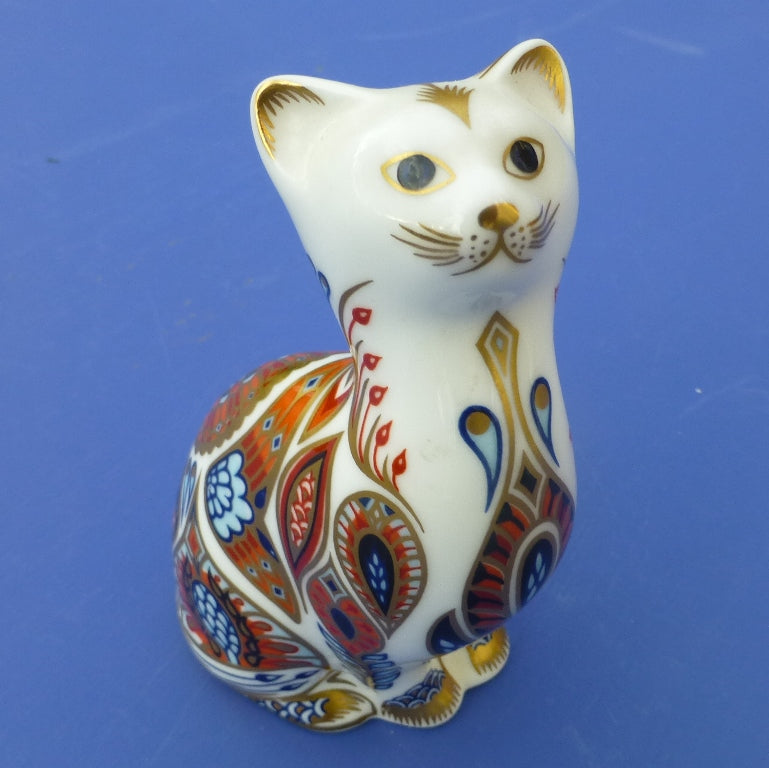 Royal Crown Derby Paperweight - Siamese Kitten (Boxed)