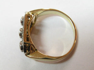Art Deco Gold & Diamond Ring
