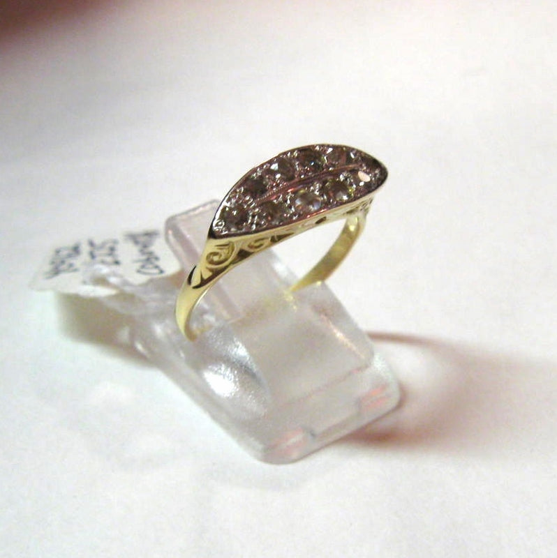Antique Edwardian 18ct Gold And Diamond Ring