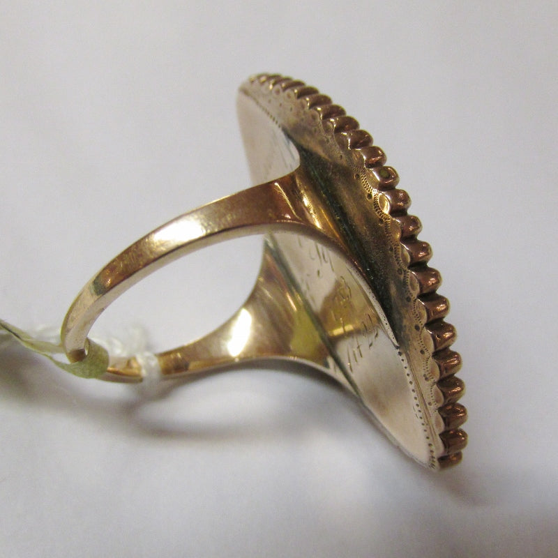 Georgian Mourning Hair Ring - 1783