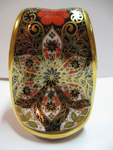 Royal Crown Derby Paperweight- Snake