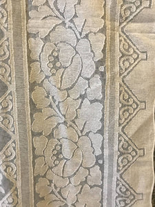 "Sarah antique design cream Madras Cotton Lace Curtain Panel 68""/92""Inches readymade"