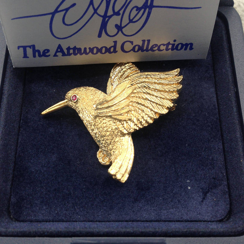 A&S hummingbird brooch