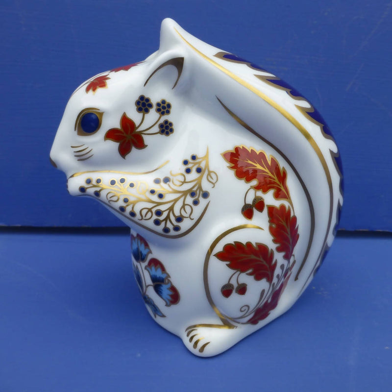 Royal Crown Derby Paperweight Squirrel (Boxed)