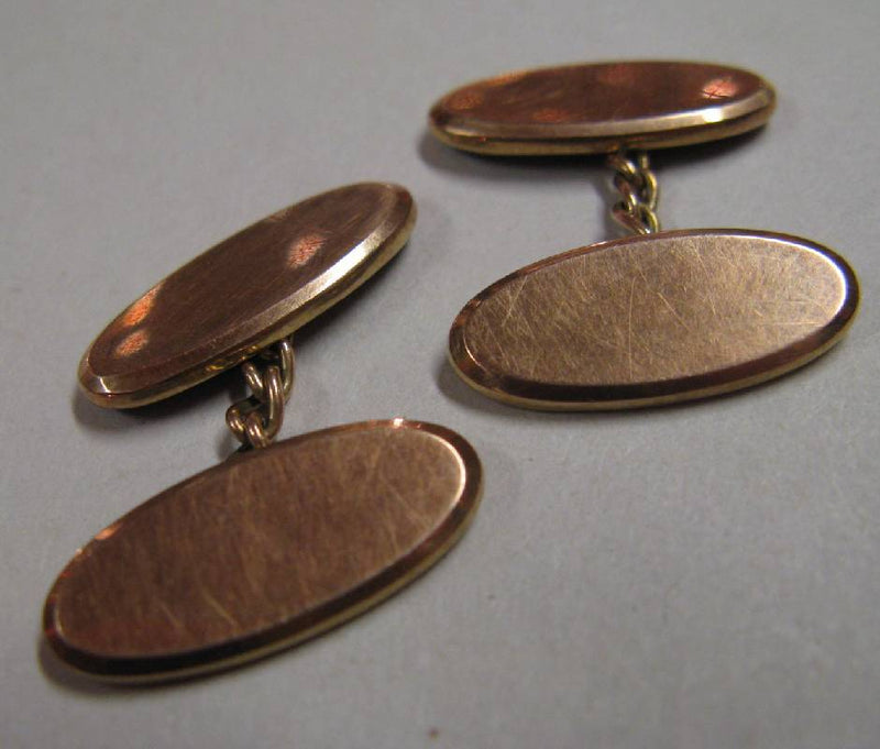 1930's 9ct Rose Gold Cufflinks, Birmingham 1935