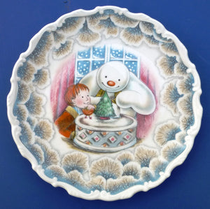 Royal Doulton Snowman Plate - Snowman Christmas Cake Plate from the Series by Raymond Briggs