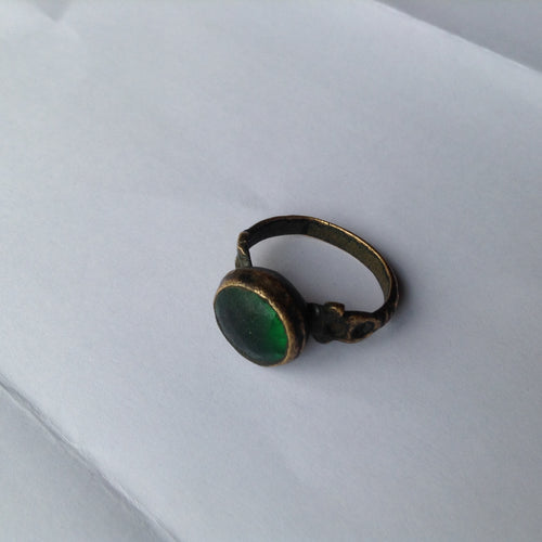 Byzantine Bronze & Glass Ring