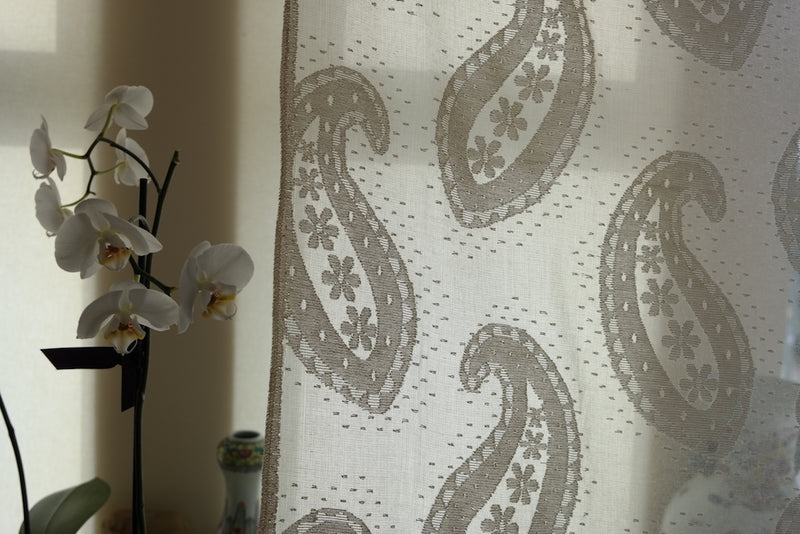 "Kashmir - antique design shimmer Curtain Panelling - 66 x 45""Inches long- to finish"
