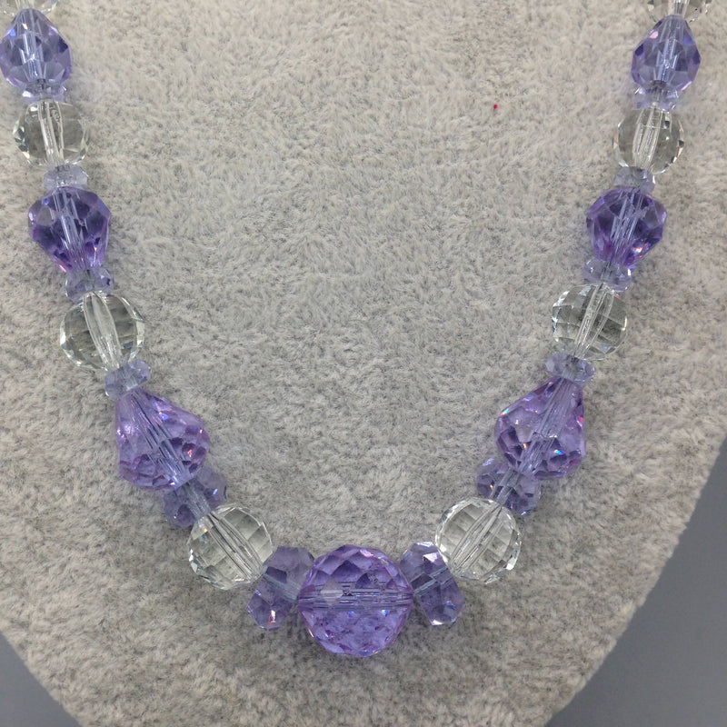 Vintage Czech crystal bead necklace