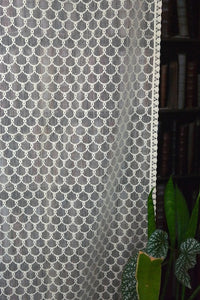 "Esme - 1 Vintage Arts & Crafts Period Scottish ecru Cotton Lace Curtain Panel - 36"" x 68"""