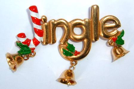 Butler & Wilson Brooch -Jingle Bells