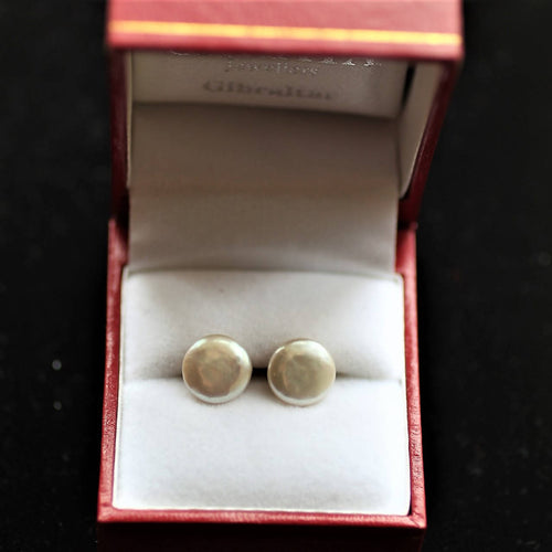 Sterling Silver & Pearl Stud Earrings