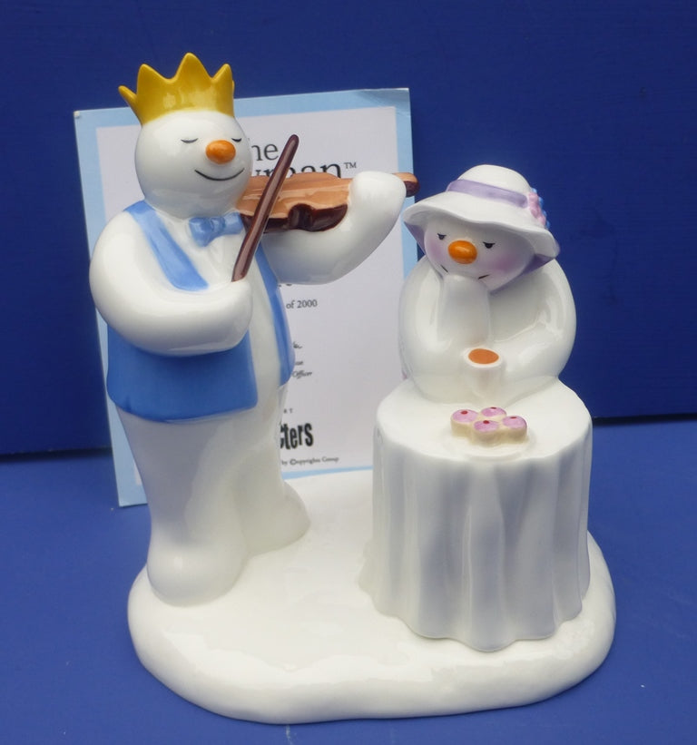 Coalport Limited Edition Snowman Figurine - At The Party (Boxed)