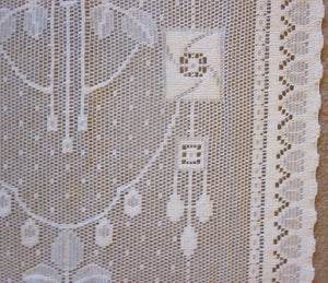 """Kelvin rose Mackintosh"" Arts & Crafts Style Cotton Lace sidelight Curtain Panelling Sold By The Metre - 16 inches wide"