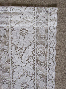 Vintagewhite Design Enchanted Garden readymade Cotton Lace Curtain Panel - 36 x 23 Inches