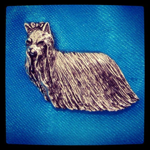 Yorkshire Terrier Brooch pin Badge