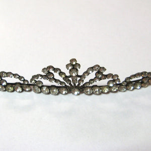 Antique Edwardian White Metal and Paste Hair Band (BOXED)