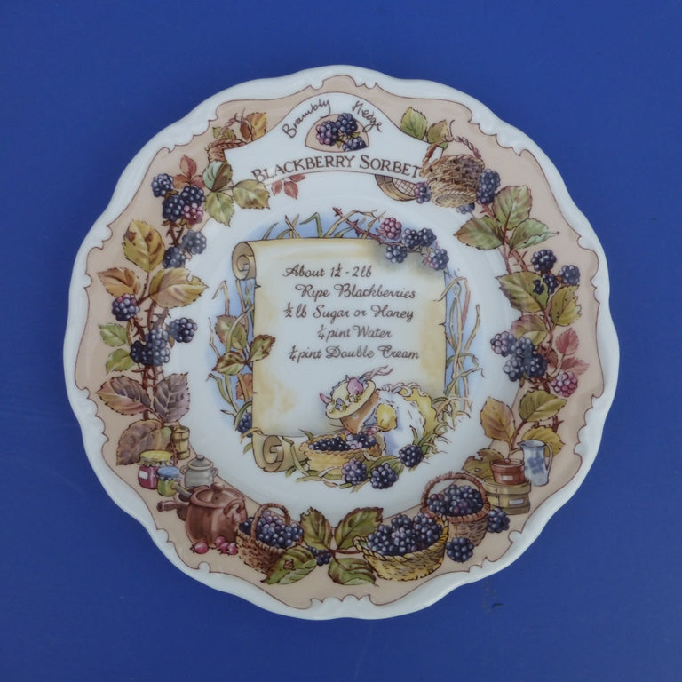 Royal Doulton Brambly Hedge Recipe Plate - Blackberry Sorbet