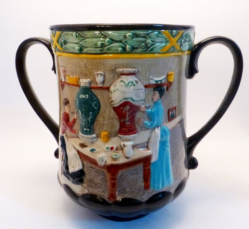 Royal Doulton Loving Cup - Pottery In The Past - D6696