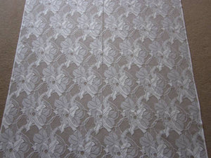 """Clematis"" Period Cream Cotton Lace Curtain Panelling Sold By The Metre"