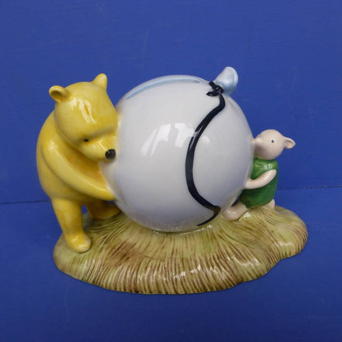 Royal Doulton Winnie The Pooh's Blue Balloon Money Box WP16 (Boxed)