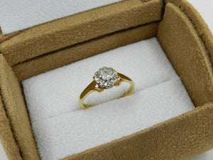 Diamond Cluster Ring Gold