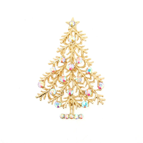 Christmas Tree Brooch opal with star