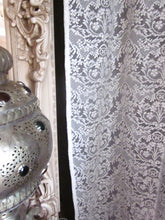 "Eleanor - Victorian Style cream Cotton Lace Curtain Panelling 52"" wide x 45"" long to finish"