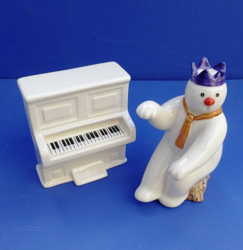 Royal Doulton Snowman - Pianist and Piano DS12 and DS13 (Boxed)