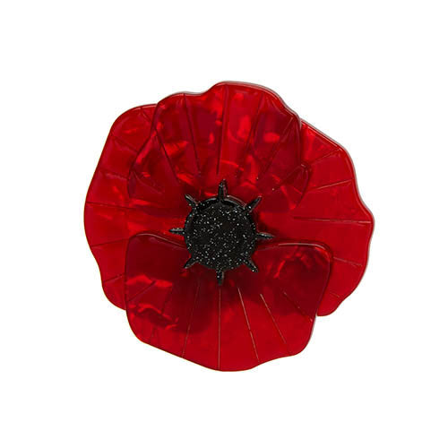 Erstwilder Red Poppy Field Brooch